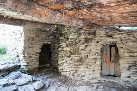 Old town ruins in Georgia Khevsureti travel