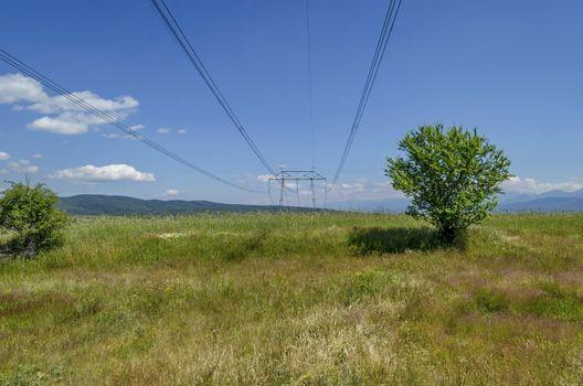 Electric power transmission line, Plana mountain, Bulgaria