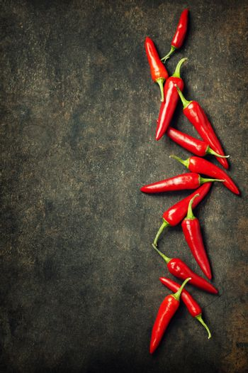 Vibrant red mexican hot chilli pepper