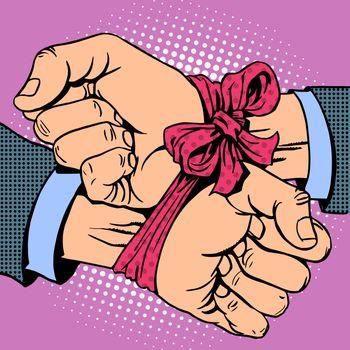 Hand tied ribbon