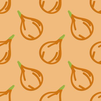 Onions Seamless Pattern Kid's Style Hand Drawn Rastr