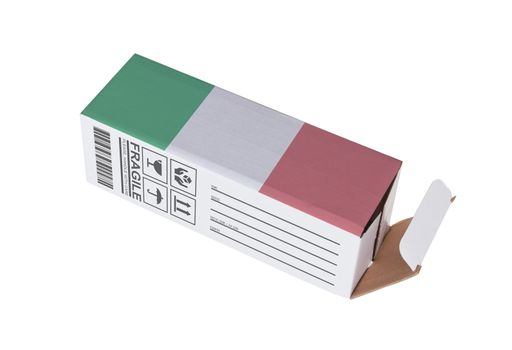 Concept of export - Product of Italy