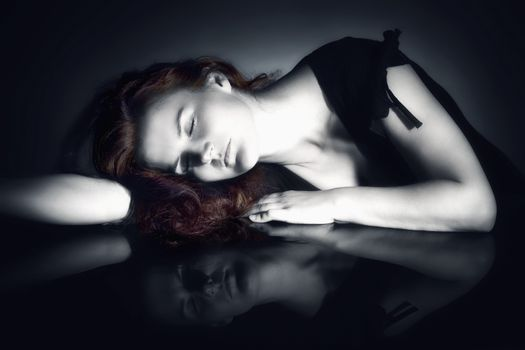 Woman with Closed Eyes Dreaming