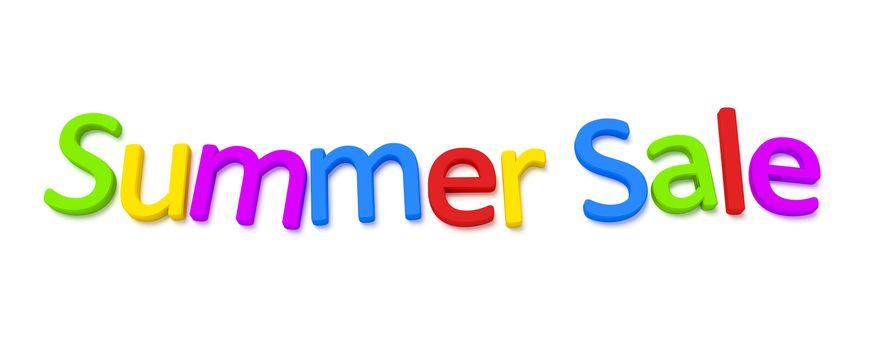 A colourful summer sale 3D image