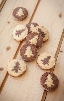 Shortcrust cookies for christmas