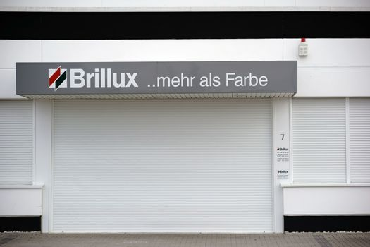 Mainz, Germany - September 24, 2015: The branch of the company Brillux colors a direct supplier of Painter's supplies with Logo on September 24, 2015 in Mainz.