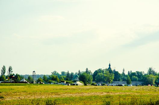Landscape tent camp
