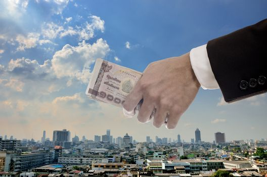 Economic capital injection concept, Businessman invest in capital