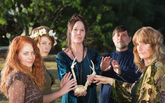 Wicca People with Antlers