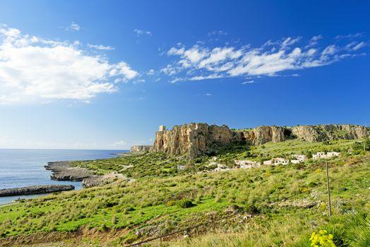 Rocky coast at Sicily Italy