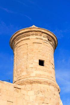 Watchtower in Grand Harbour of Valletta