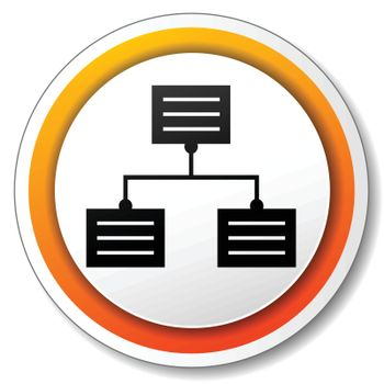 illustration of orange and white icon for analytics
