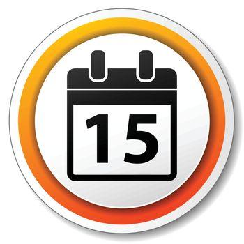 illustration of orange and white icon for calendar