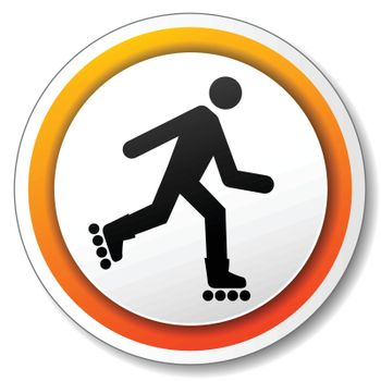illustration of orange and white icon for roller