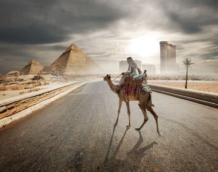 Evening over pyramids
