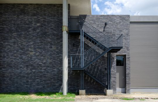 Fire escape staircase on the external wall