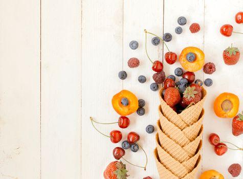 Fruits in cone