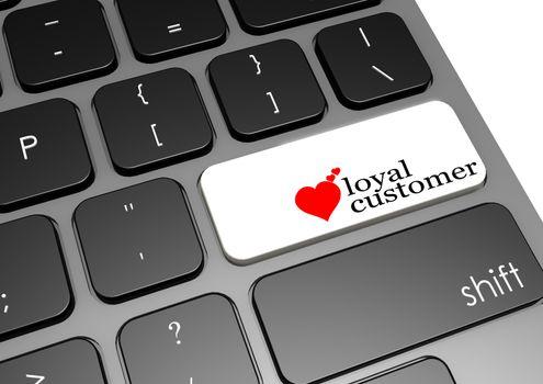 Loyal customer black keyboard