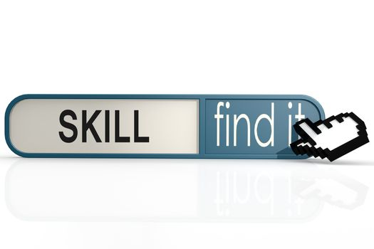 Skill word on the blue find it banner