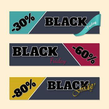 Black friday labels with discounts