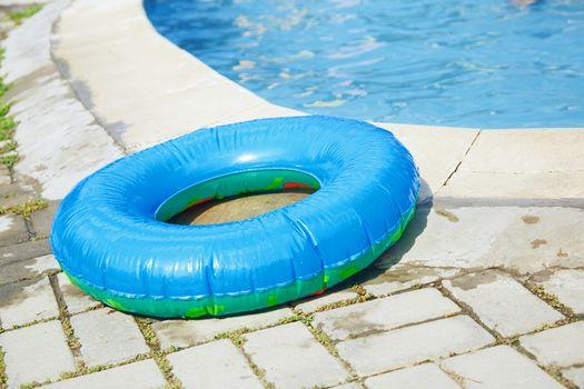 Life ring at the swimming pool