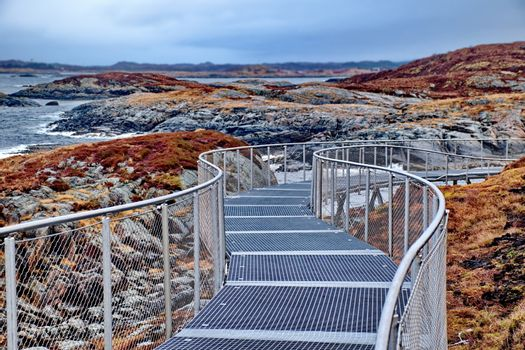 Artificial footpath in Norway