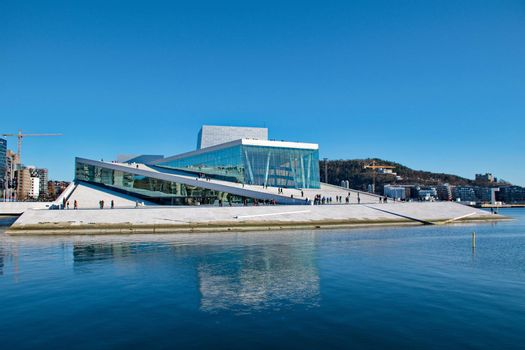 OSLO - MARCH 21: Contemporary building of Opera house in Oslo
