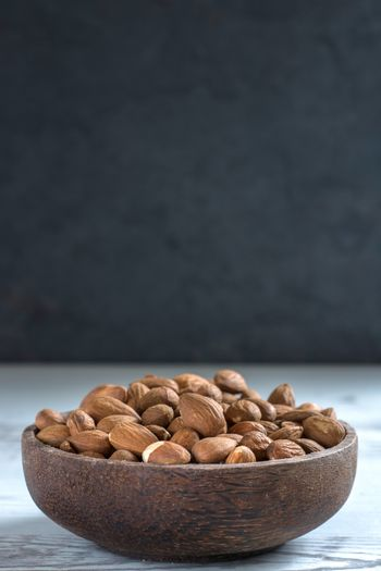 Almonds on the table