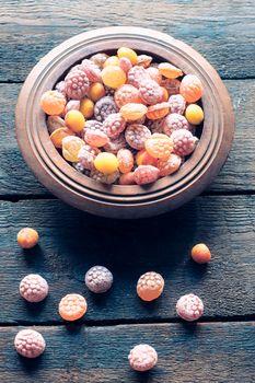 Colorful bonbons