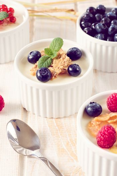 Yogurt with berry fruits