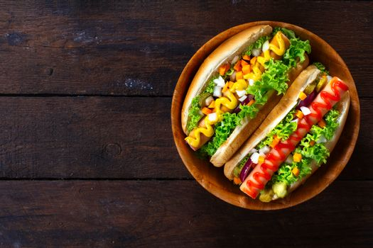 Hot dogs from above