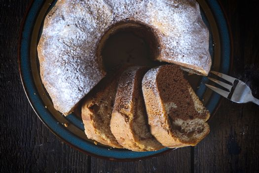 Marble cake from above