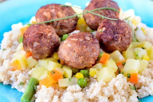 Juicy meat balls