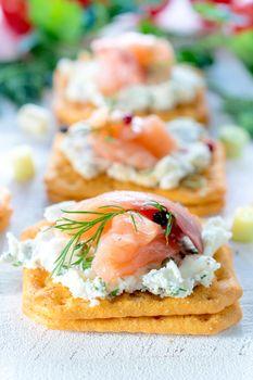 Little salmon appetizer