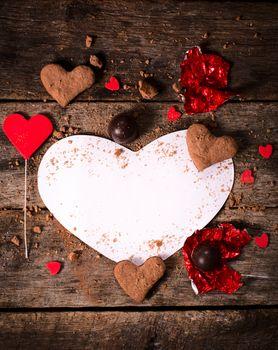 Blank heart shape paper