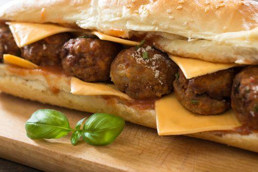Meatballs in the sandwich
