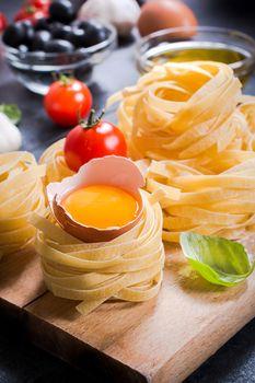 Egg in pasta