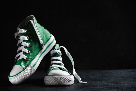 Green child shoes
