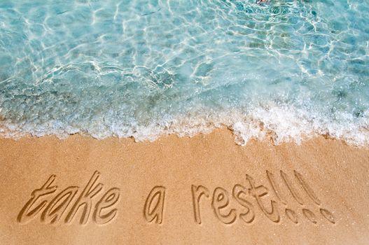 Take a restl concept