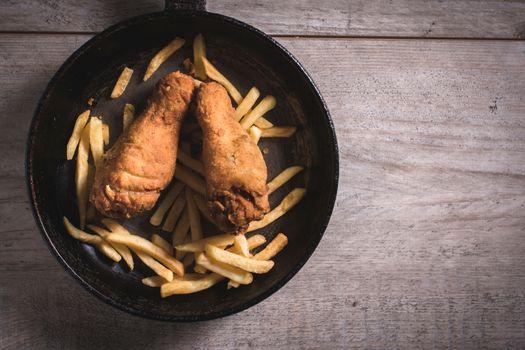 Junk food in the pan