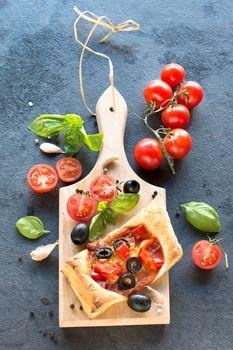 Crispy Italian mini pizza