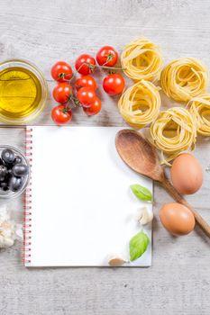Italian cuisine preparing book