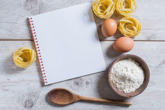Tagliatelle and cook book