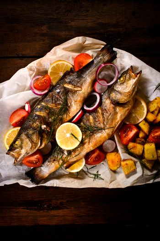 Prepared bass fish