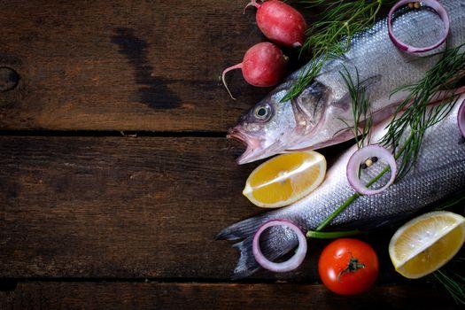 Fresh bass fish