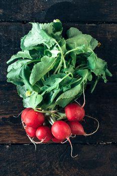 radishes on table