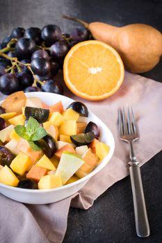 Organic fruit salad