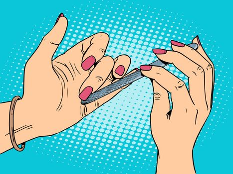 Nail care beauty woman
