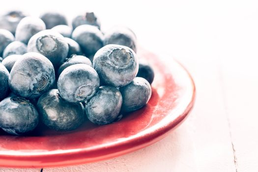 Close up to blueberries