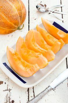 Sweet melon slices